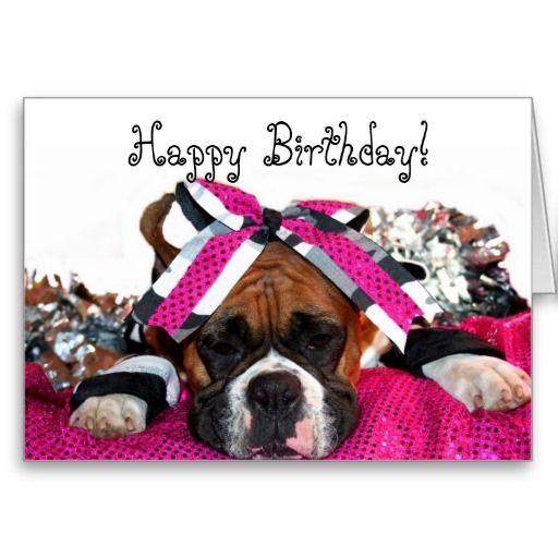 Compleanno Happy Birthday Buon Compleanno Boxer Dogs Boxer E