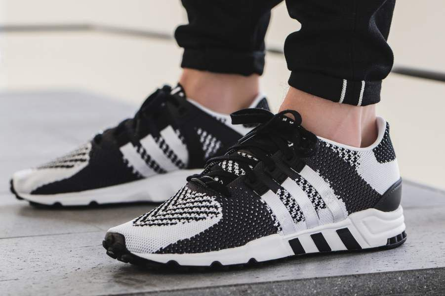 new product 1b647 d0c2c A zebra-inspired colorway just debuted on the adidas EQT Support RF  Primeknit, as it features the classic and popular blackwhite color scheme  that is ...