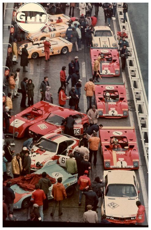 jacqalan:  1972 Nurburgring 1000Kms. Sunday the winner will be the  Ferrari 312PB,drived by Ronnie Peterson and Tim Schenken.