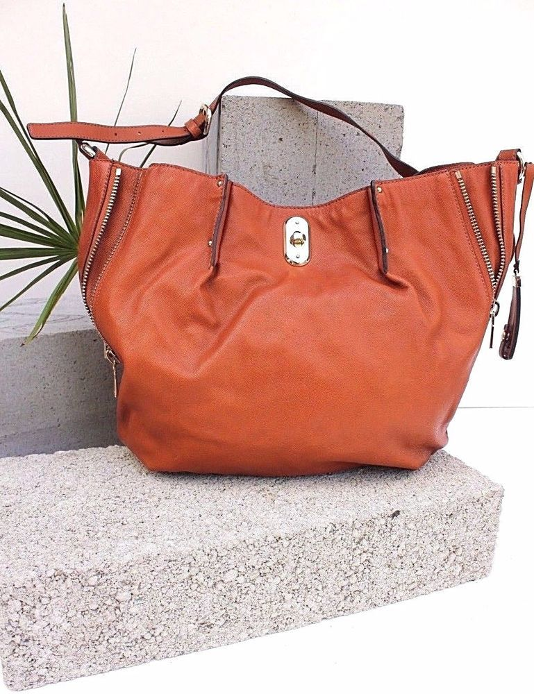 7728d34502 Karen Millen GS121 Tan Hobo Leather Tote Bag Shoulder Sling Cross Body  Handbag #KarenMillen #Crossbody