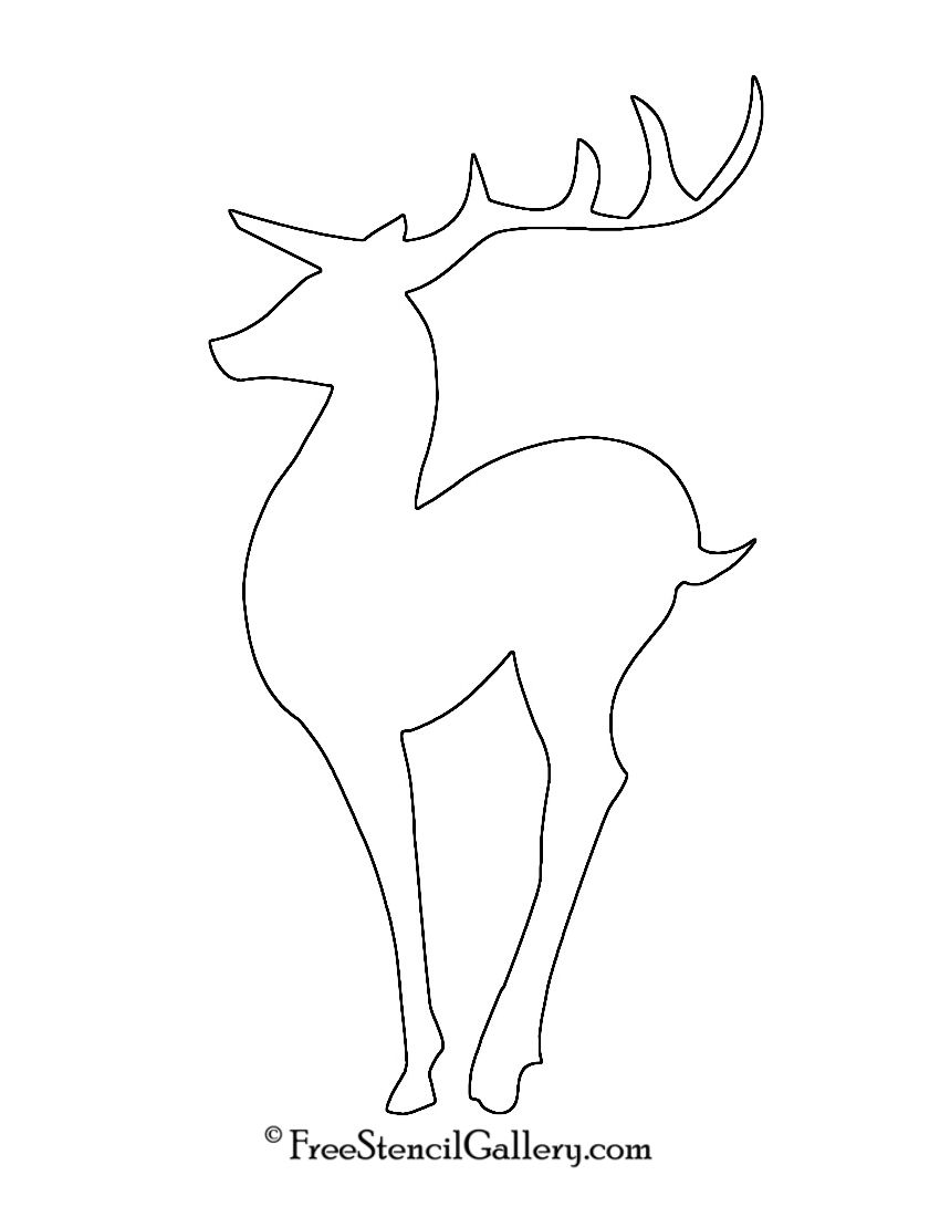 Line Drawing Reindeer : Reindeer silhouette stencil christmas ideas for jacob