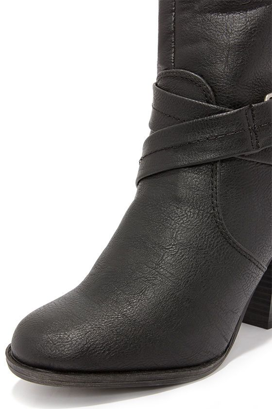 Bootsy Columns Black Over the Knee Boots at Lulus.com!