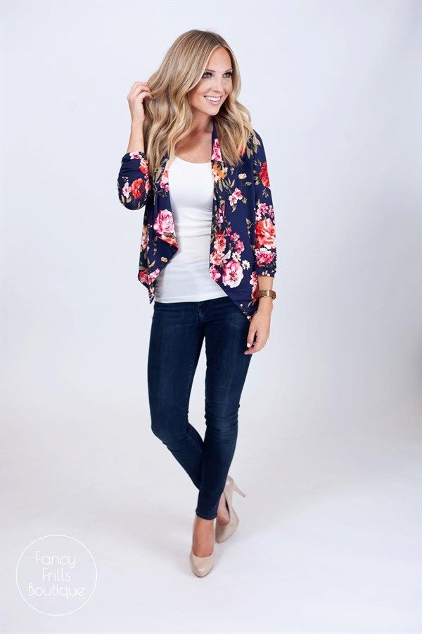 b3f877d2241aa Summer Floral Blazer | Women's Clothing in 2019 | Blazer outfits ...