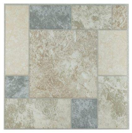 Achim Home Furnishings Ftvgm32720 Nexus 12 Inch Vinyl Tile Marble Blocks 20 Pack Self Adhesive Floor Tiles Luxury Vinyl Tile Vinyl Flooring