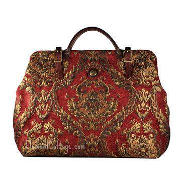 Large Victorian Carpetbag - Queen Elizabeth (Red) | Herrajes | Pinterest