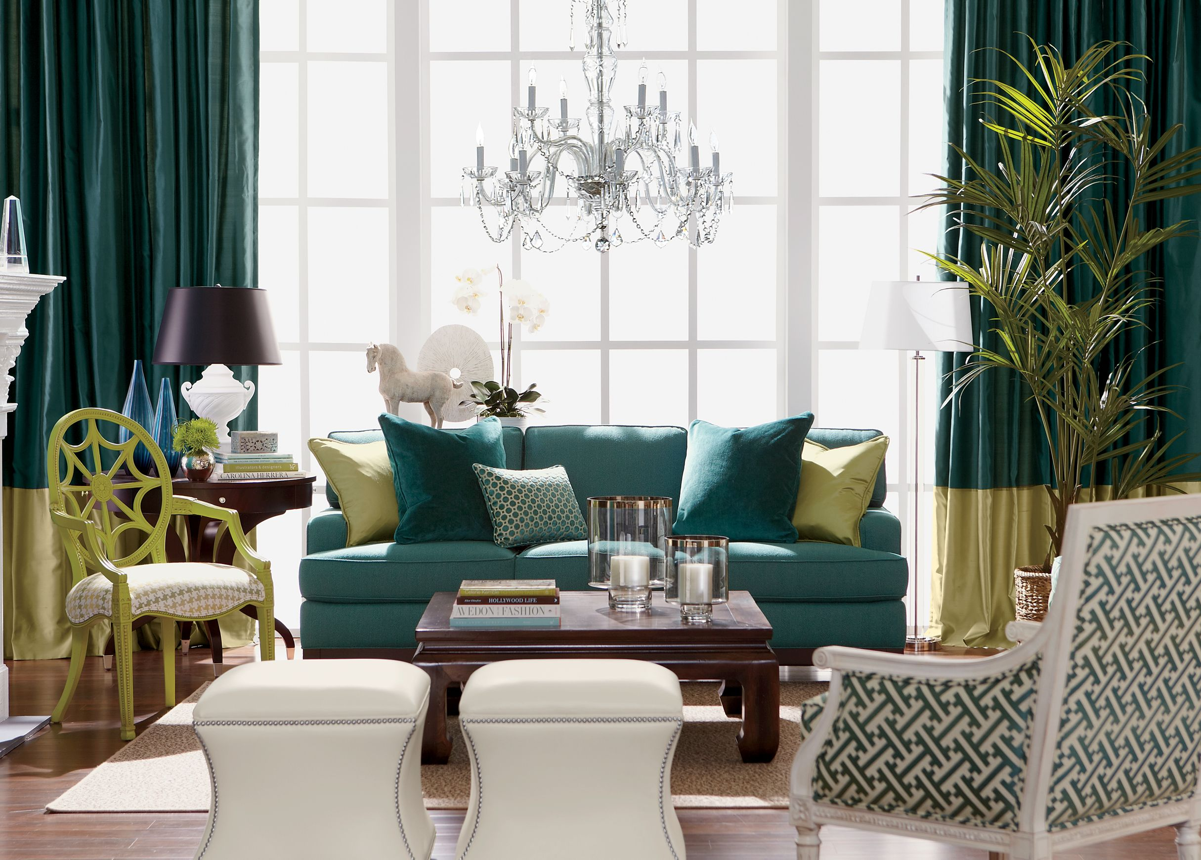 The Teal Deal Living Room | Ethan Allen which I love the color ...
