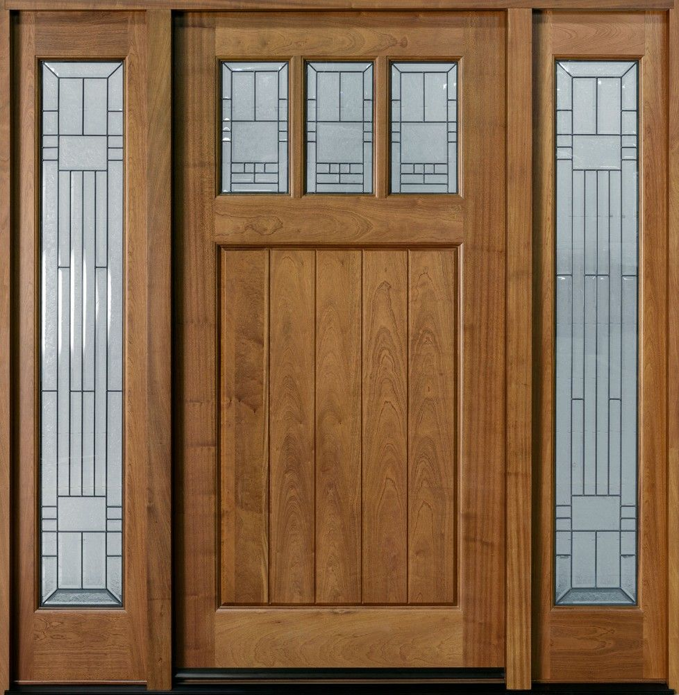 Download entry door custom single with two sidelites solid for Single entry door with glass