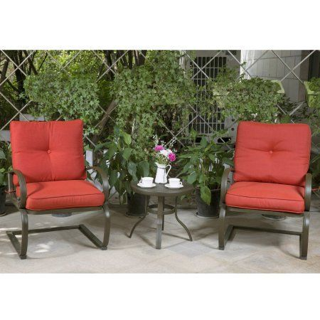 199 Cloud Mountain Bistro Table Set Outdoor Patio Cafe Furniture Seat Wrought Iron Garden With Cushioned Seats Brick
