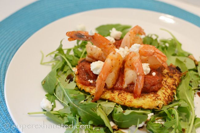 Share Tweet Pin Mail This Shrimp Nest Salad is lovely shrimp served on top of spaghetti squash pancake served with Ragu sauce on a ...