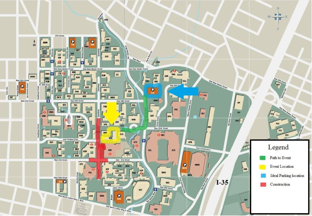 Campus Map And Parking Explore Ut Austin Campus Map Map Park