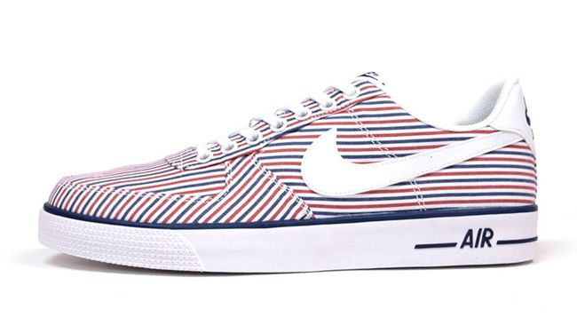 "newest 25376 fed0a Nike Air Force 1 AC ""Red, Blue   White Stripes"""