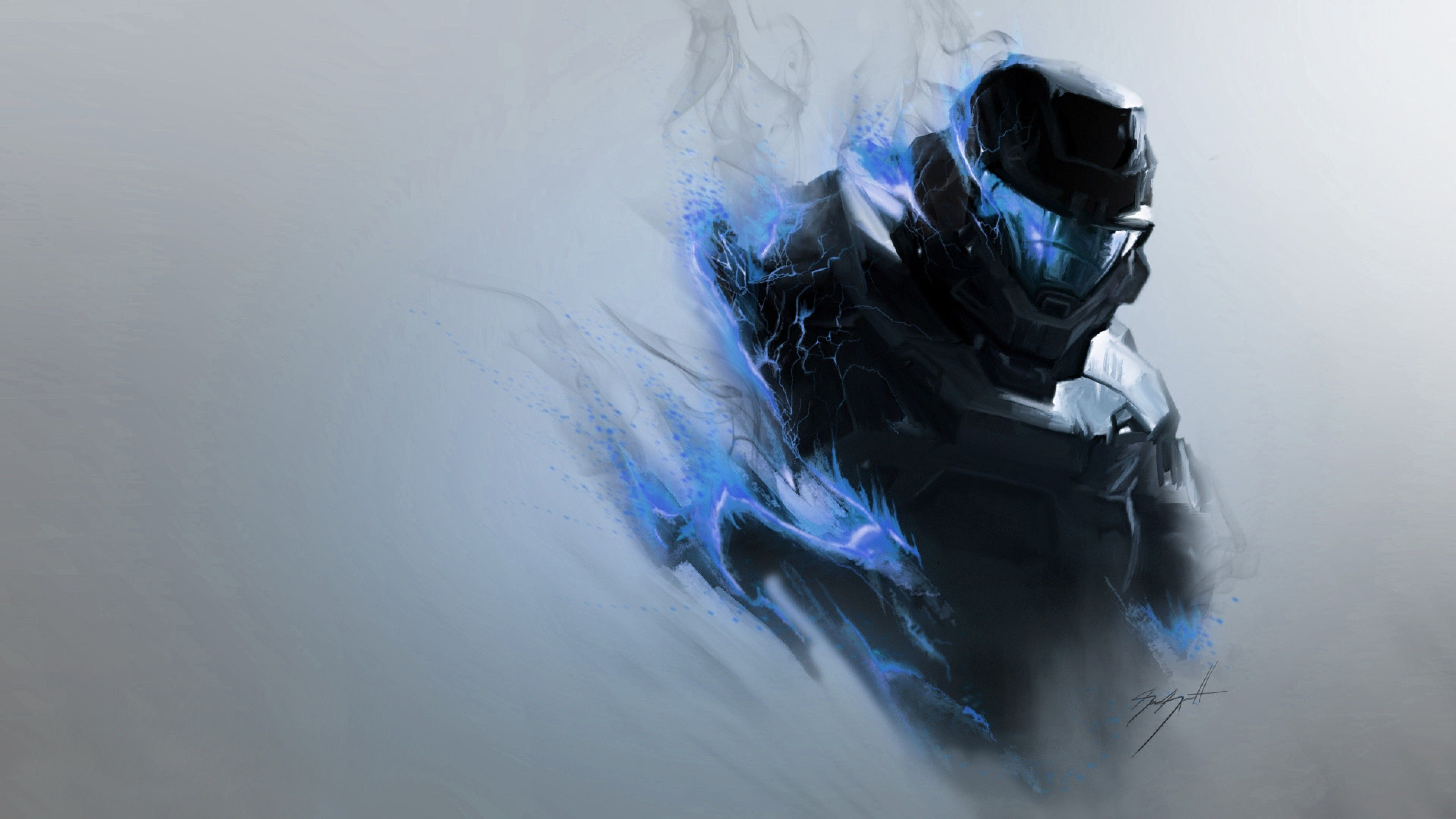 3840x2160 Wallpaper 3840x2160 Halo Smoke Armor Soldier