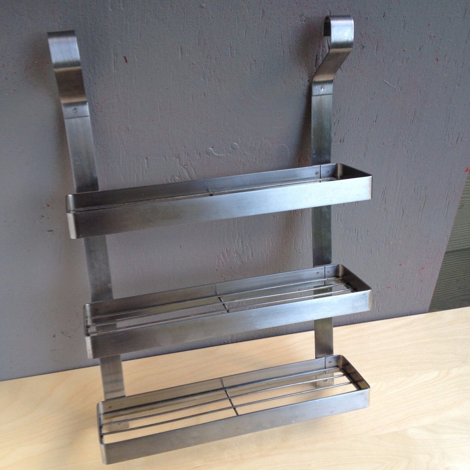 Ikea Grundtal Stainless Steel Spice Rack Hanging System