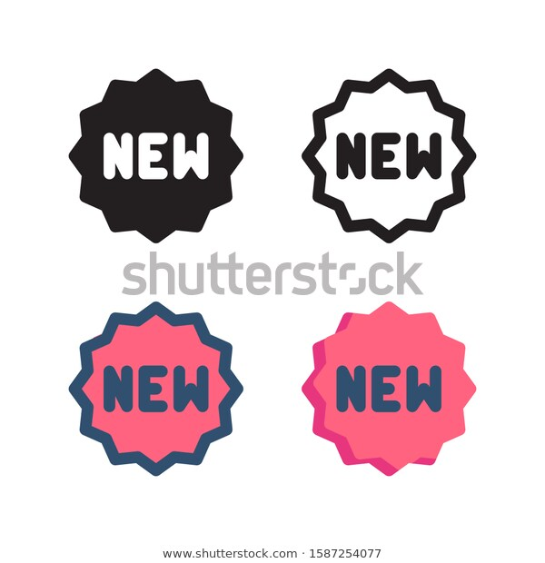 New Arrival Logo Icon Design Four Stock Vector Royalty Free 1587254077 In 2020 Icon Design Logo Icons Printable Designs