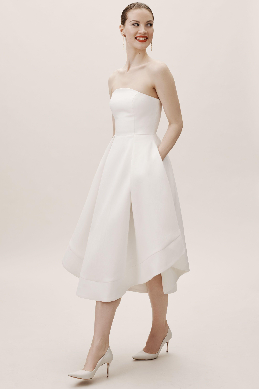 Amande Dress From Bhldn A Line Wedding Dress Tea Length Wedding Dress Pleated Wedding Dresses [ 3000 x 2000 Pixel ]