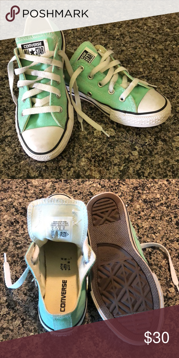 91b6159d4f58 Converse youth sneakers Converse youth size US 12. Mint green. Converse  Shoes Sneakers
