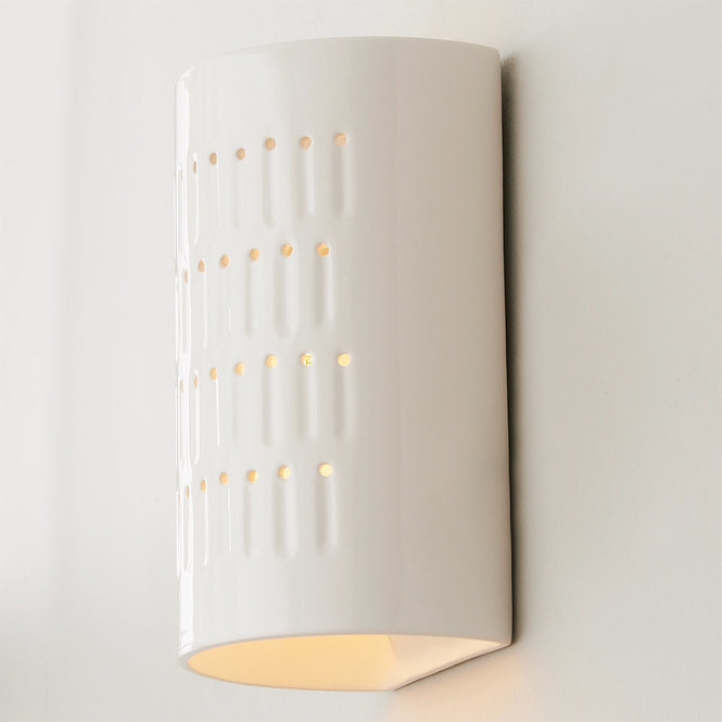 Drip Dot Ceramic Sconce In 2020 Ceramic Wall Lights Sconce Shades Sconces