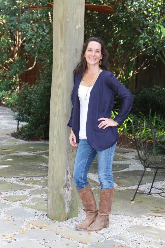 Cardigan pdf sewing pattern for Women Seamingly Smitten, long sleeve ...