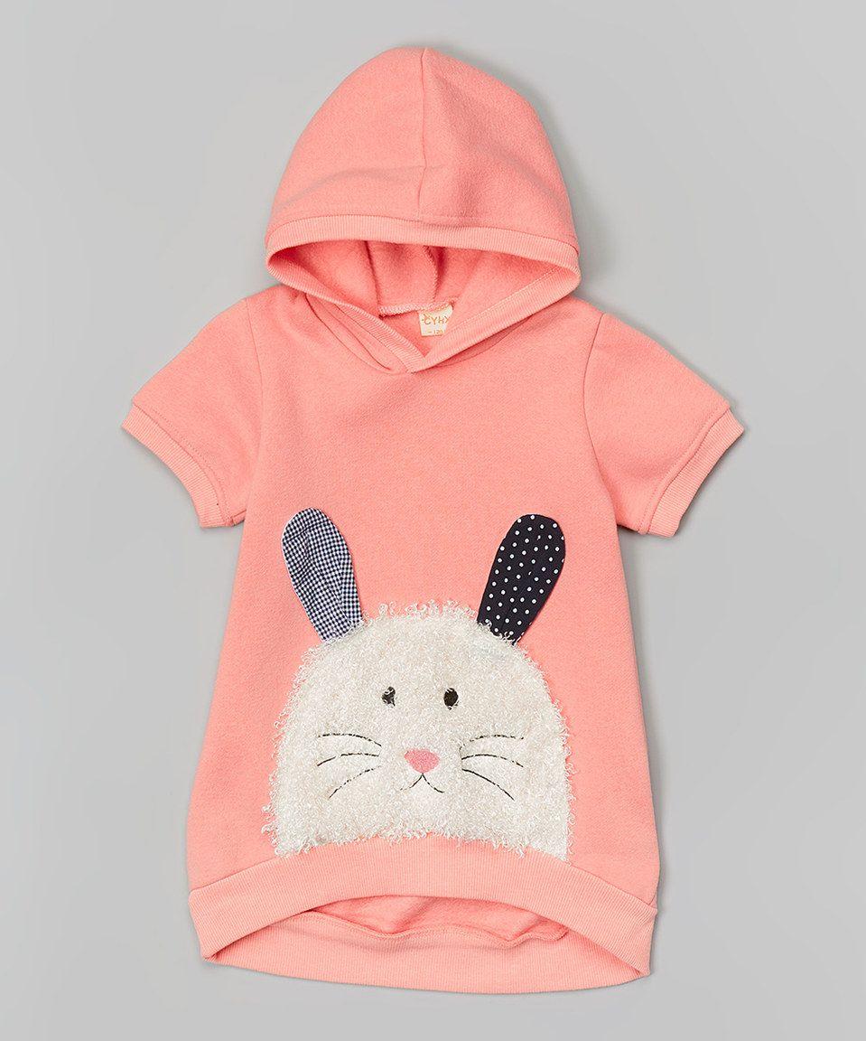 Another great find on #zulily! Pink Bunny Hoodie - Toddler & Girls by Leighton Alexander #zulilyfinds