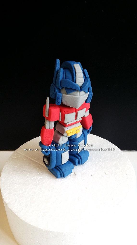 Transformers Optimus Prime Fondant Cake Topper By Bearcaketopper
