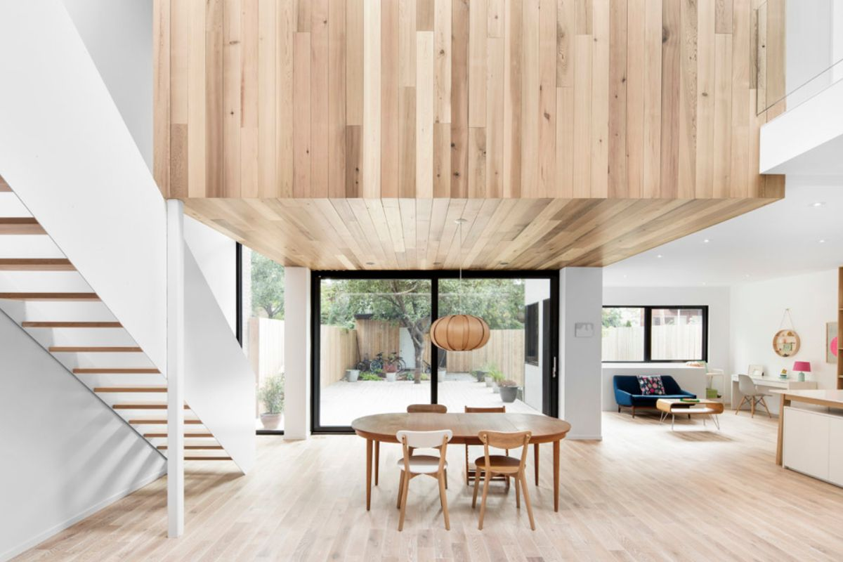 Open structuur en zicht op het terras algemeen pinterest hout