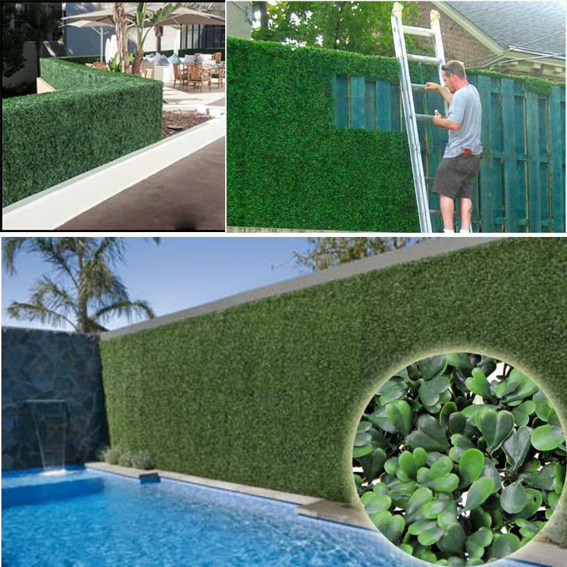 Buy artificial ivy fence boxwood leaf for Garden privacy fence