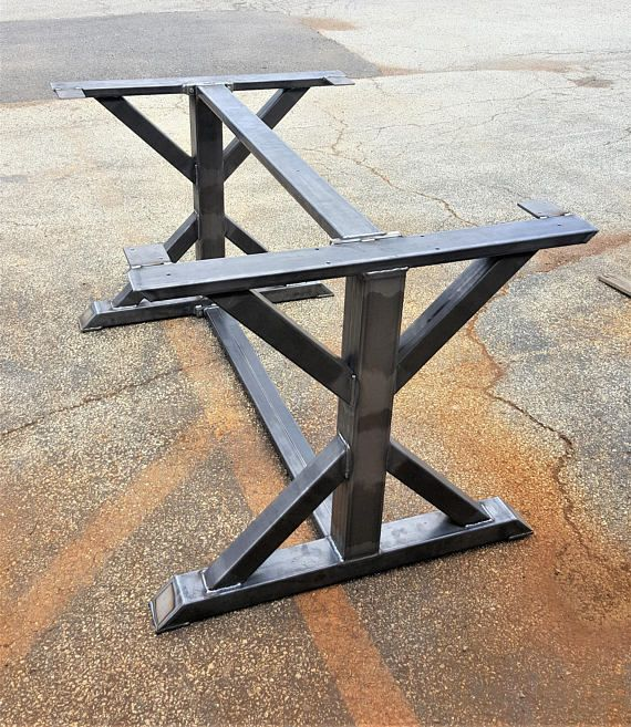 Modern Conference 2 Two Dining Trestle Table Legs With Braces 28 H X 36 W 70 L Load Up To 1500 Lbs