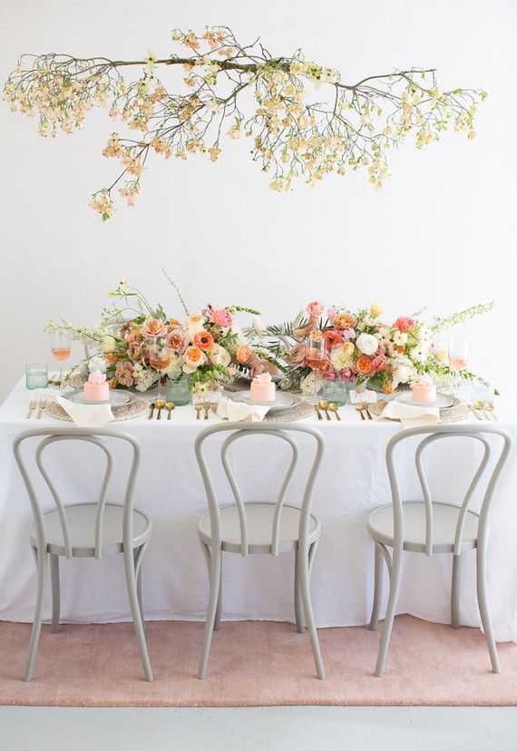 664349b95daa Blush floral bridal shower inspiration with Crate and Barrel (100 ...