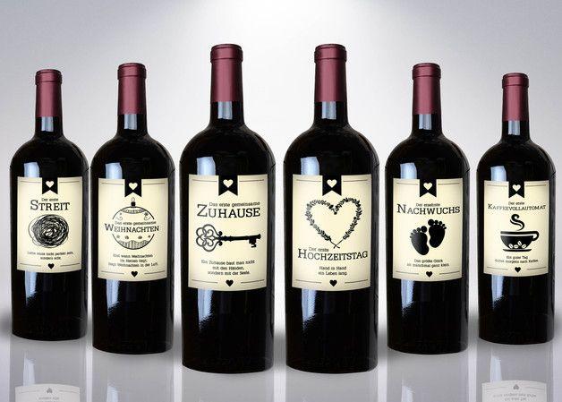 Weinetiketten Wine Labels Hochzeitsgeschenk Hochzeitsgeschenk Weinetiketten Weinflasche Geschenk
