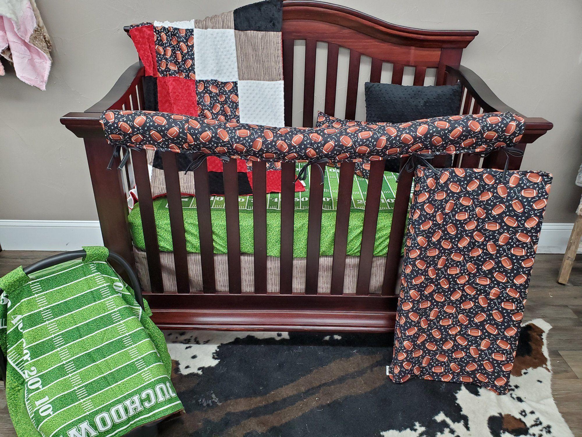 Ready to Ship Boy Crib Bedding - Football Bedding Set in ...