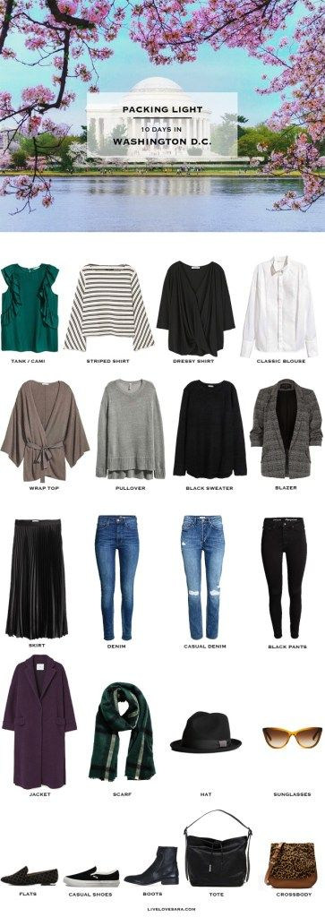 What To Pack For Washington Dc For 10 Days In April Packinglist Travellight Packinglight Travel Trave Winter Travel Outfit Washington Dc Outfit Dc Fashion