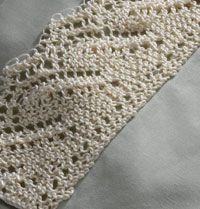 Knitted Lace Edging Patterns : Interweave: Knit Hilton Lace Edging for Pillowcases - free pattern edgings ...