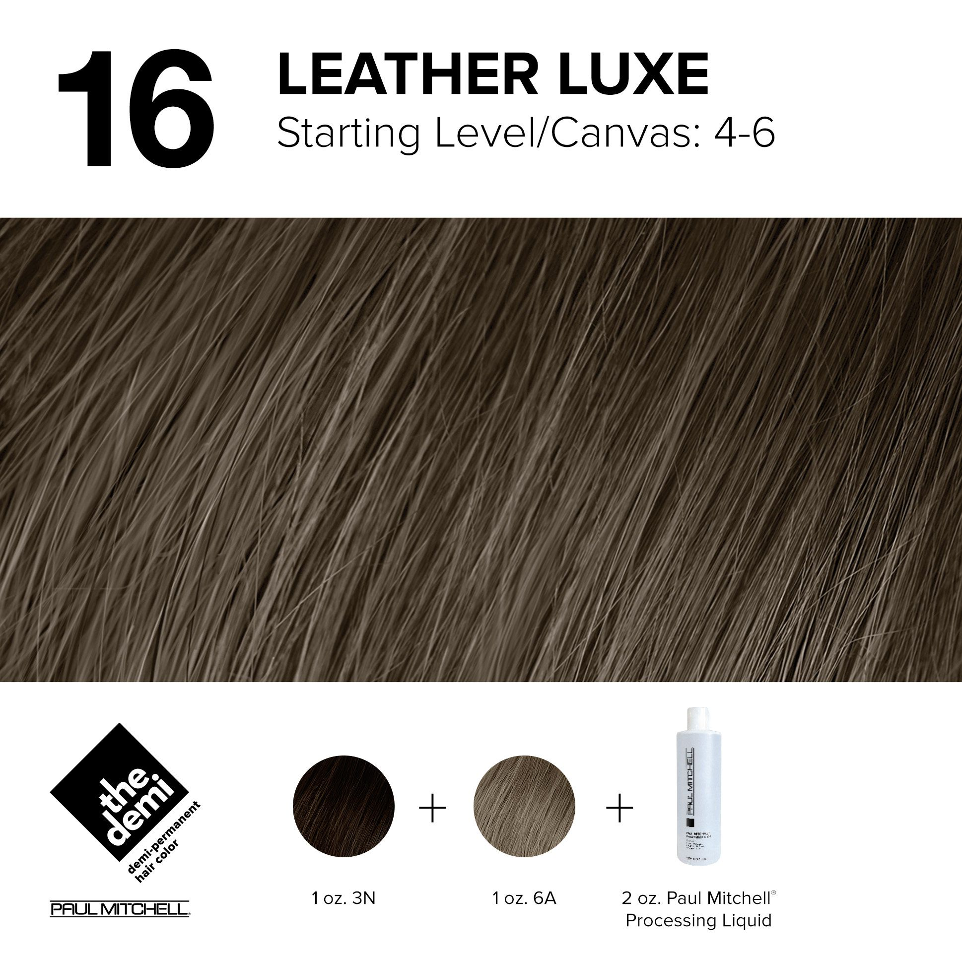 16 Leather Luxe Paul Mitchell Hair Products Paul Mitchell Color Paul Mitchell Color Chart