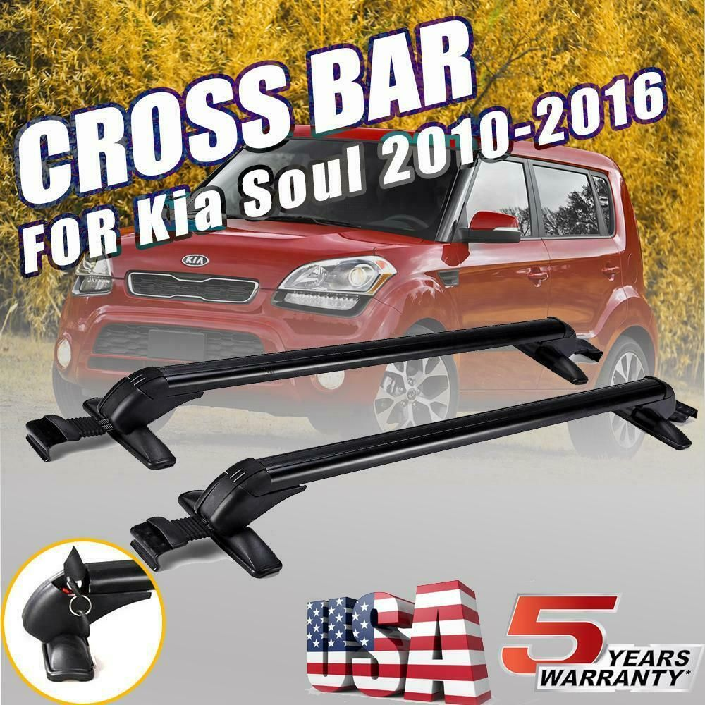For Kia Soul 2010 2016 Car Roof Rail Rack Cross Bars Kayak Ski Snowboard Carrier Kia Soul Accessories Kia Soul Kia