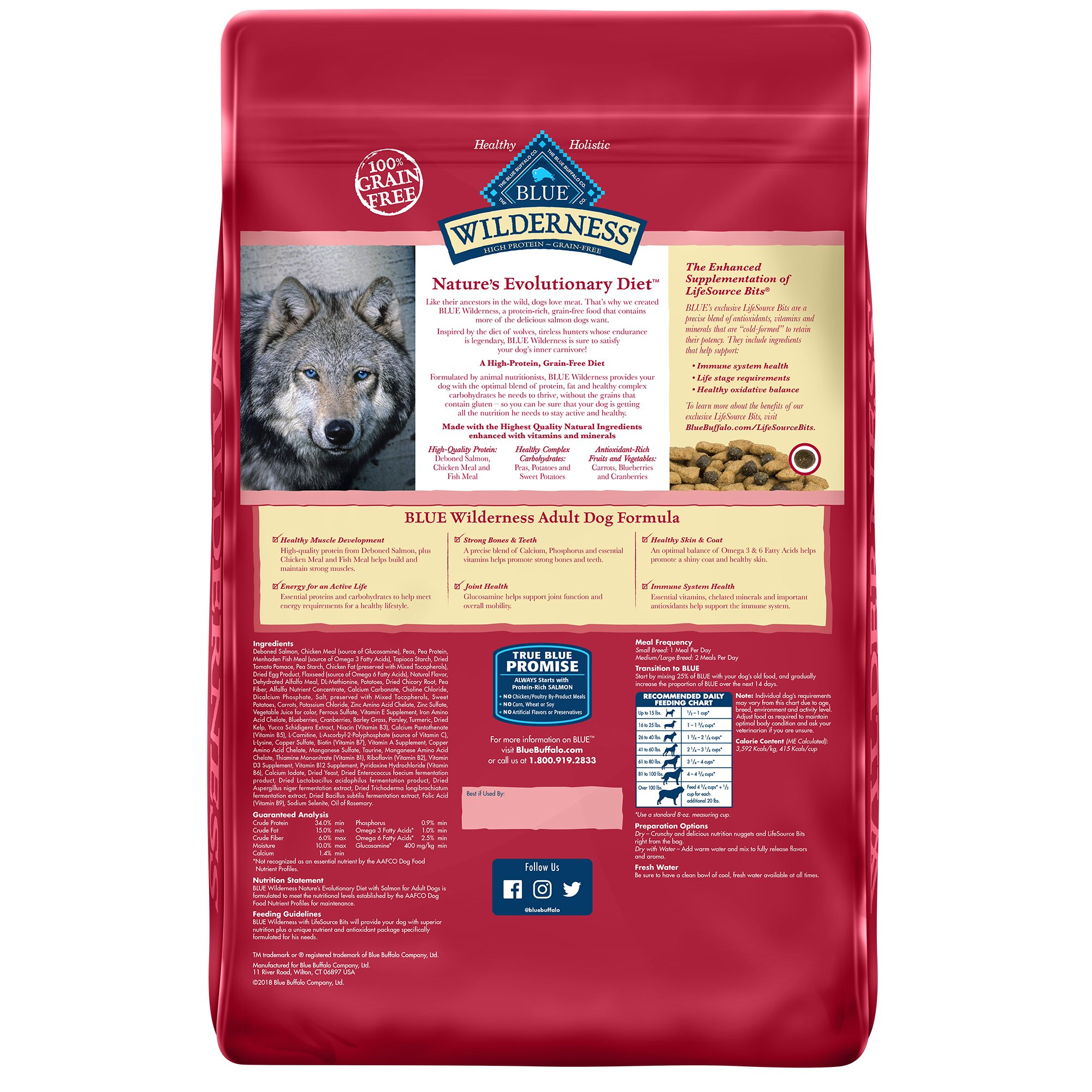 Blue Buffalo Blue Wilderness Adult Salmon Recipe Dry Dog Food 11