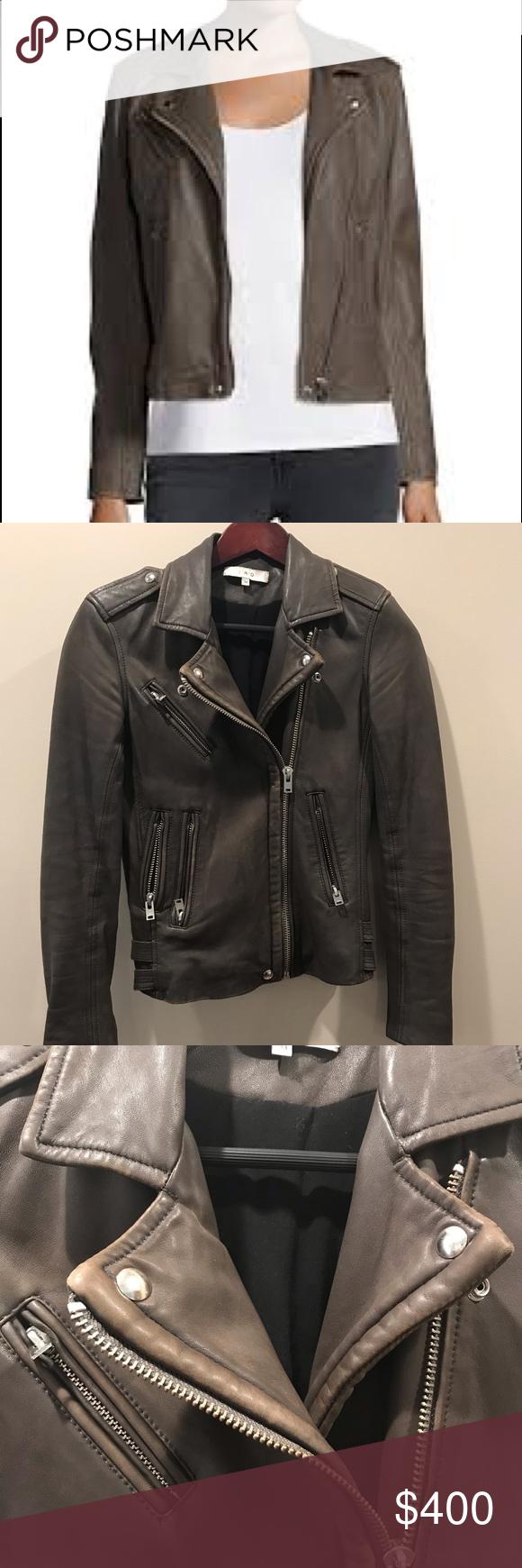 Iro Han Leather Moto Jacket Size 34 Leather Moto Jacket Clothes Design Fashion [ 1740 x 580 Pixel ]