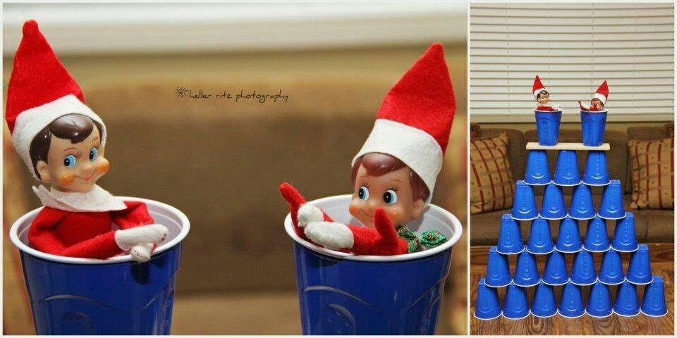 Solo cups for two - Elf on the Shelf
