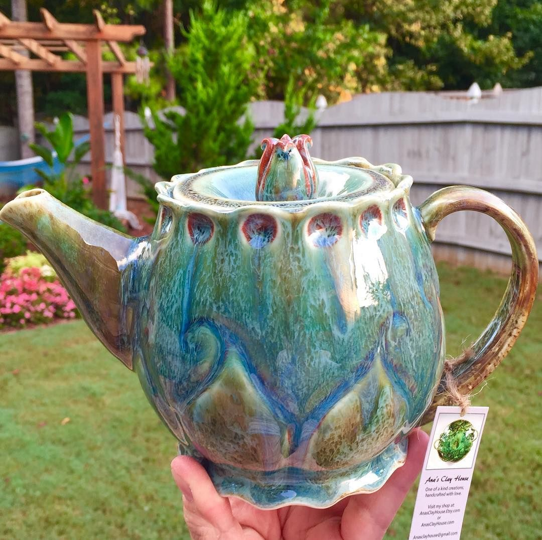 This teapot was reglazed and refired. I\'m glad I did I love the ...