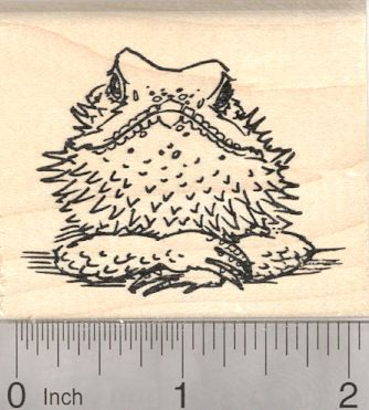 Bearded Dragon Rubber Stamp, Australia, Reptile H26838 Wood Mounted ...