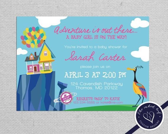 Paradise Falls Printable Girl Baby Shower Invitation Inspired By