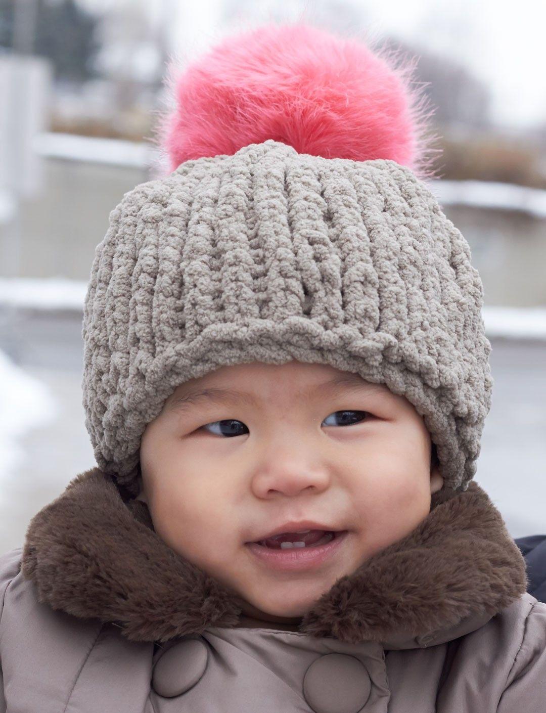 Yarnspirations.com - Bernat Big Stitch Baby Hat - Patterns ...