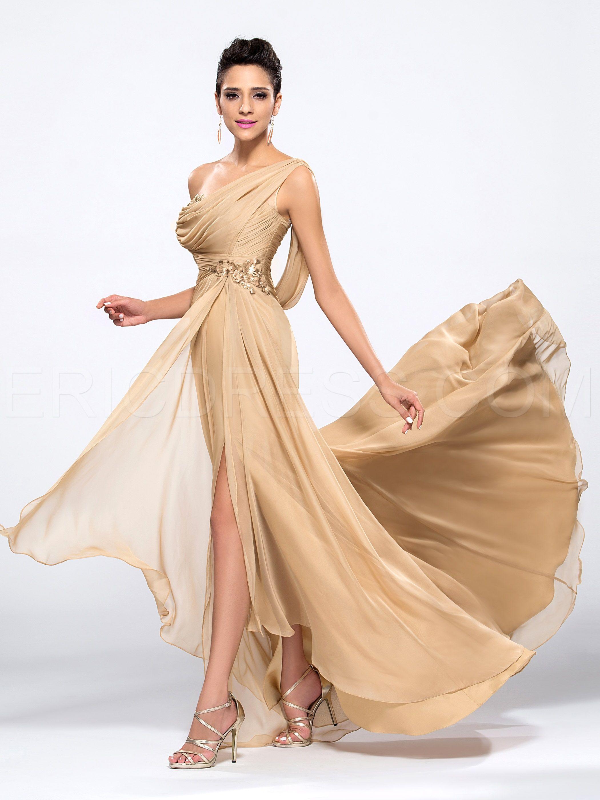 8d1f716b8 Gorgeous Front-Split One-shoulder Floor-length Sequins Evening Dress  Elegant Evening Dresses- ericdress.com 10990212