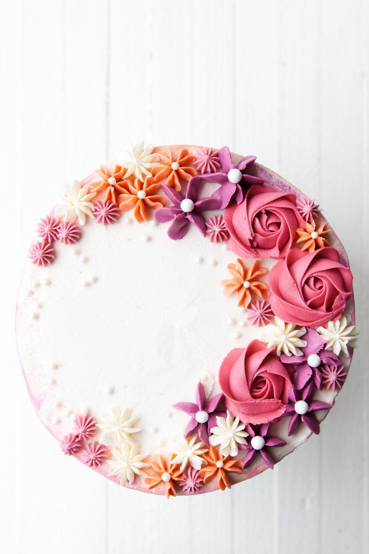 How to Make a Buttercream Flower Cake Kakedesign, Kake