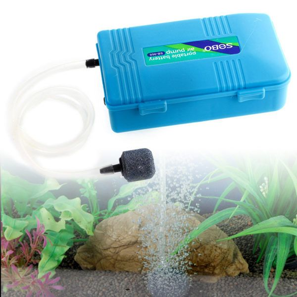 Perfect Aquarium Battery Operated Fish Tank Air Pump W Air Stone Aerator Oxygen Portable Deep Blue Aquarium Usa Aquarium Air Pump Fish Tank Aquarium Accessories