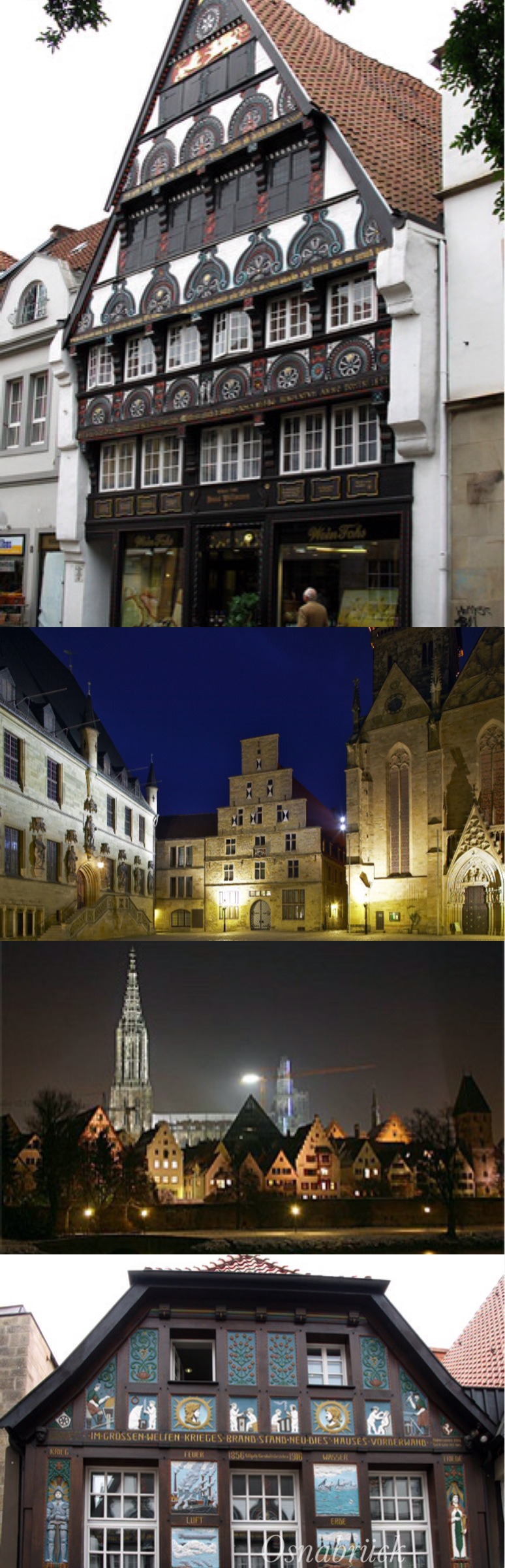 """Osnabrück's political and cultural life believes in the maxim: """"The task of peace – committed to peace"""". After 5 years of negotiations the """"Peace of Westphalia"""" that ended the Thirty Years' War was proclaimed on the steps of the Town Hall in 1648."""