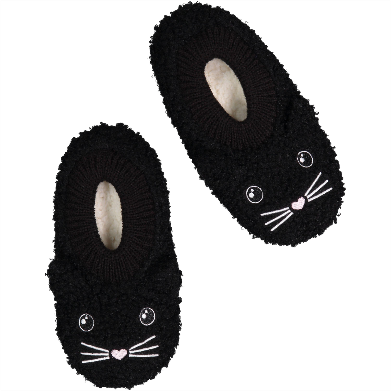 Women's Soft Black Cat Slipper Socks Cat slippers
