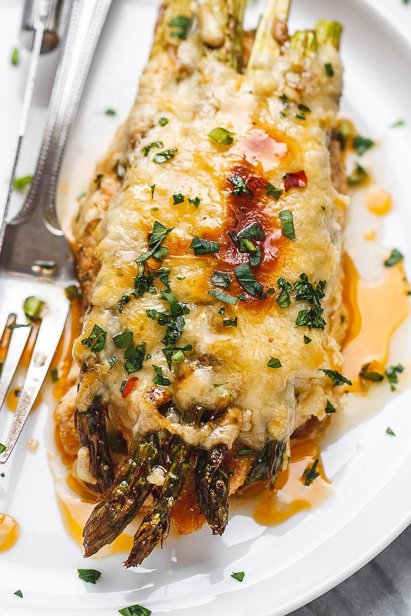 Chicken Casserole With Asparagus And Mozzarella Food