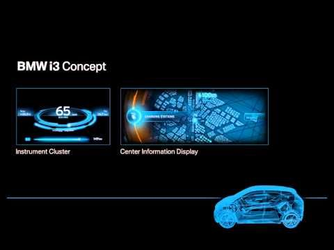 BMW i3 Concept  Interface Design  Video | car | Bmw i3, Interface