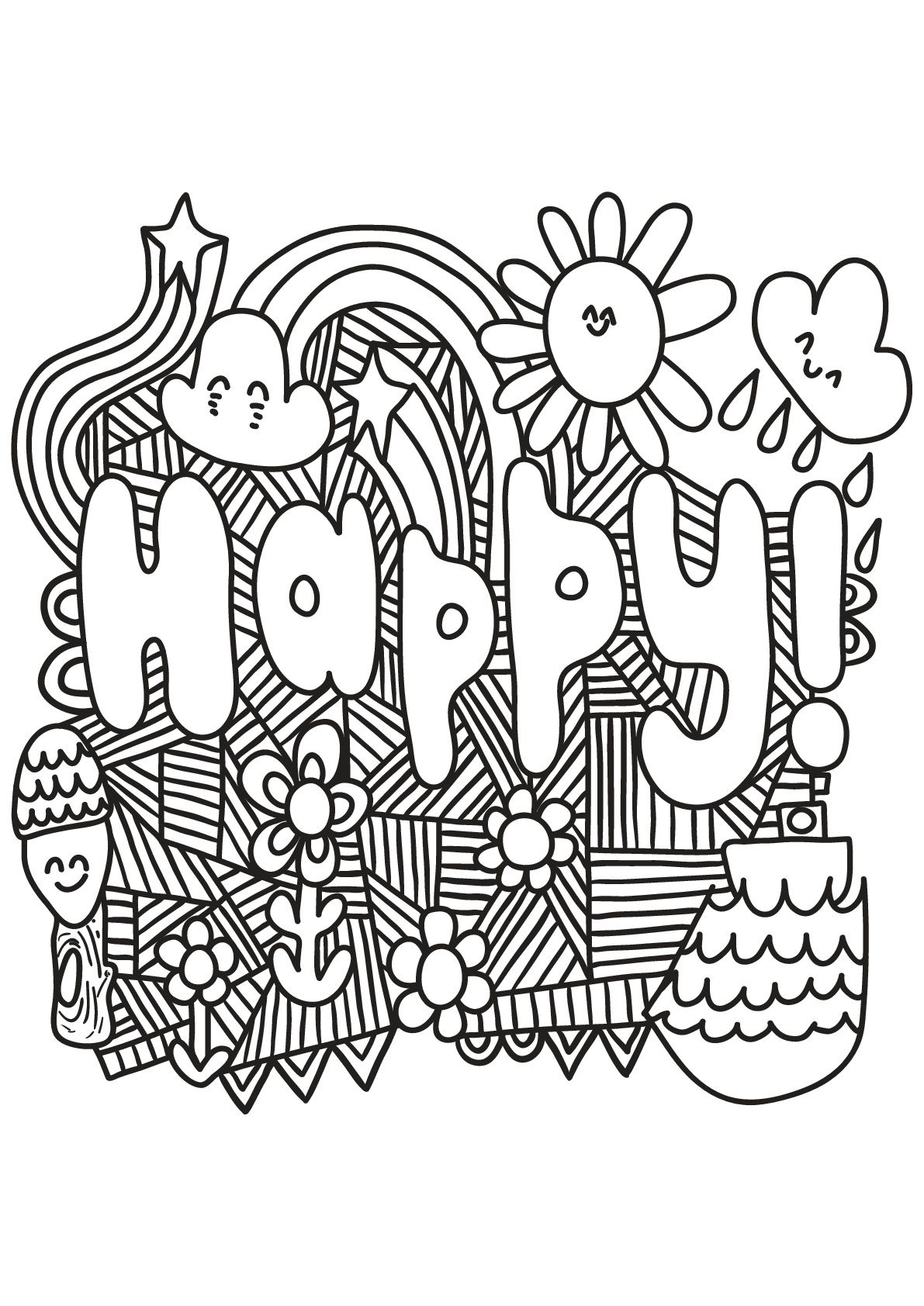 Happy From The Gallery Quotes Unicorn Coloring Pages Quote Coloring Pages Coloring Books