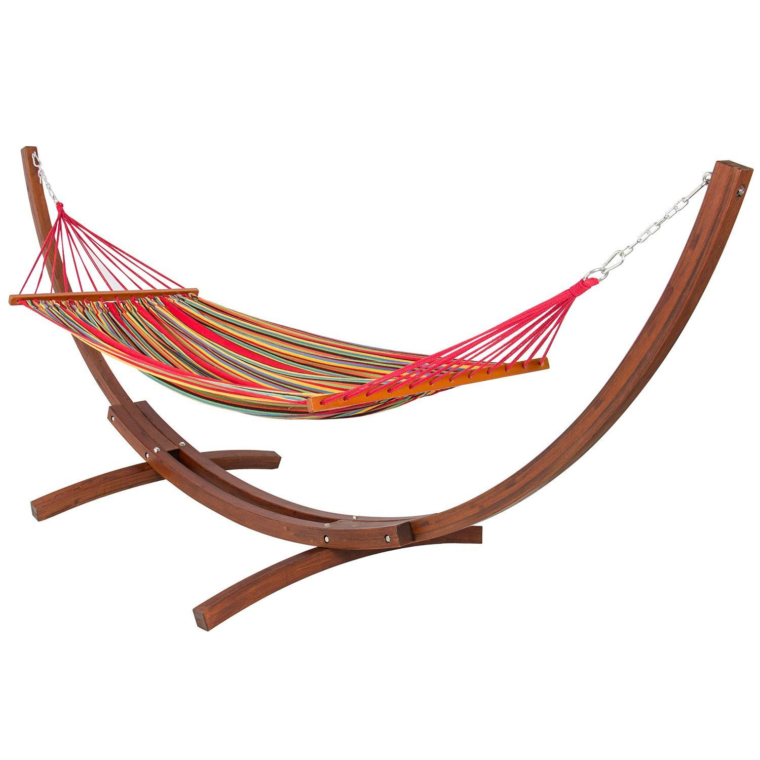 garden algoma combo pillow natural amazon frame dp hammock caribbean arc and stand wooden outdoor com feet